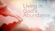 Living in God's Abundance